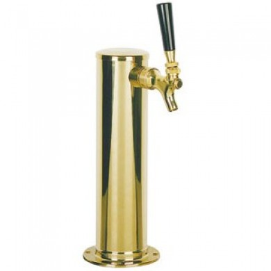 3″ Column Draft Beer Tower 1 Faucet – PVD Brass Finish