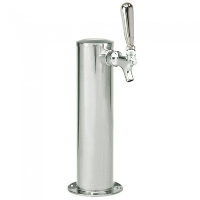 3″ Column Draft Beer Tower 1 Faucet – Stainless Steel Finish