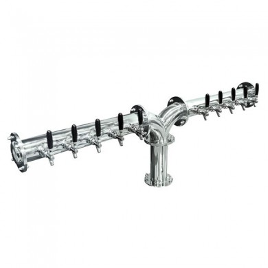 Brauhaus Y Draft Beer Tower 10 Faucet – Chrome Finish