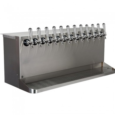 Under Counter Draft Beer Dispenser 12 Faucet – Brushed Stainless Steel