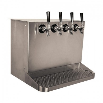 Under Counter Draft Beer Dispenser 4 Faucet – Brushed Stainless Steel