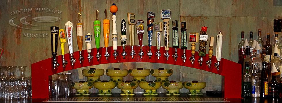 Summer Shack Custom Arch Beer Tower - Front
