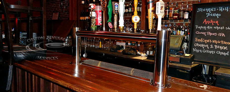S&H Bistro Bar - 12 Faucet MetroH Draft Beer Tower Front 3-4
