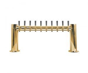 "Metro ""H"" - Draft Beer Tower 10 Faucet - PVD Brass Finish"