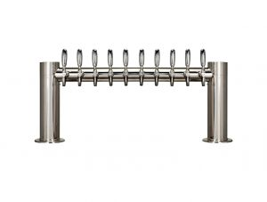"""Metro """"H"""" Draft Beer Tower 10 Faucet - Stainless Steel Finish"""