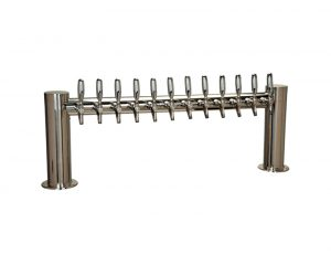 """Metro """"H"""" Draft Beer Tower 12 Faucet - Stainless Steel Finish"""