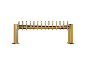 """Metro """"H"""" Draft Beer Tower 14 Faucet - PVD Brass Finish"""