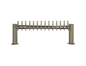 """Metro""""H"""" Draft Beer Tower 14 Faucet - Stainless Steel Finish"""