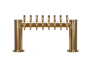 """Metro """"H"""" Draft Beer Tower 8 Faucet - PVD Brass Finish"""