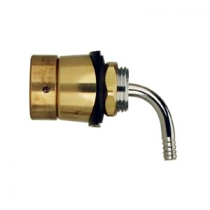 Draft Beer Shank - Brass Tower - Elbow Assembly