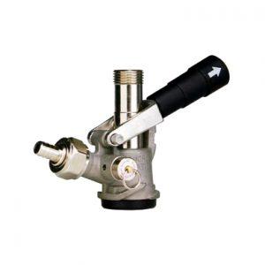 """""""D"""" System Keg Coupler - Stainless Steel Body - Black Handle"""