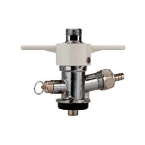 """""""S"""" System Sankey Keg Coupler Chrm Plated Body - Wht Wing Handle"""