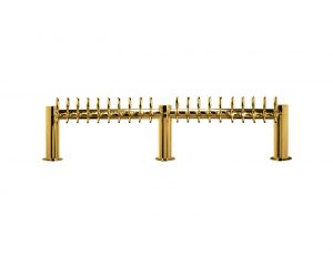 "Metro ""M"" Draft Beer Tower 20 Faucet - PVD Brass Finish"