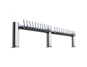 """Metro """"M"""" Draft Beer Tower 24 Faucet - Stainless Steel Finish"""
