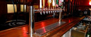 S&H Bistro Bar - 12 Faucet MetroH Draft Beer Tower with Drainer