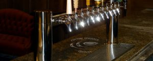 S&H Bistro Lounge - 12 Faucet MetroH Draft Beer Tower Faucets & Drainer