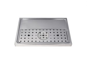 """23-5/8"""" Platform Drip Tray - Stainless Steel with Glass Rinser"""