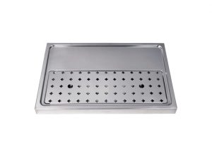 "23-5/8"" Platform Drip Tray - Stainless Steel no Glass Rinser"