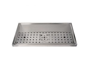 """31-1/2"""" Platform Drip Tray - Stainless Steel with Glass Rinser"""
