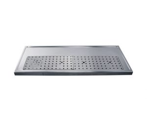47-1/4″ Platform Drip Tray – Stainless Steel with Glass Rinser