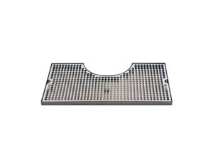 """19 3/4"""" - Stainless Steel Zeus Tower Surface Mount Drip Tray - 8 3/8"""" Cut-Out"""