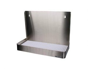 """19"""" Stainless Steel Wall Mount Drain Tray, w/ Drip Tray"""