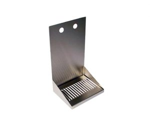 """8"""" Stainless Steel Wall Mount Drip Tray - 2 Faucet"""