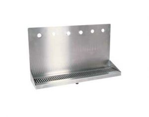 """24"""" Stainless Steel Wall Mount Drip Tray - 6 Faucet"""