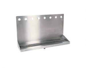 """24"""" Stainless Steel Wall Mount Drain Tray - 8 Faucet"""
