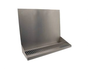 """16"""" Stainless Steel Wall Mount Drip Tray"""
