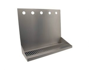 """16"""" Stainless Steel Wall Mount Drain Tray - 5 Faucet"""