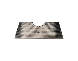 """24"""" SS Cut-Out Surface Mount Drain Tray - Fits 7-1/2"""" Column"""
