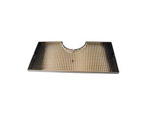 "24"" SS/PVD Brass Cut-Out Surface Mount - Fits 7-1/2"" Column"