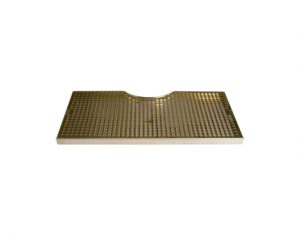 "19"" SS/PVD Brass Cut-Out Surface Mount - Fits 7 1/2"" Column"