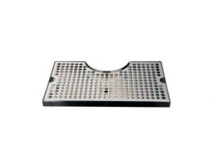 """12""""L x 7""""W - Surface Mount with Cut-Out Drip Tray - Polished Stainless Steel - With Drain"""