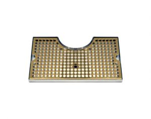 """12""""L x 7""""W - Surface Mount with Cut-Out Drip Tray - PVD-Brass - With Drain"""