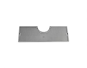 """24"""" Cut-Out Surface Mount Drip Tray with Drain - 4"""" Column"""