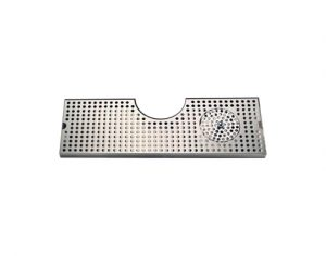 """24"""" Cut-Out Surface Mount Drip Tray with Drain/Glass Rinser - 4"""" Column"""