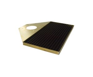 16-5⁄8″L x 8-3⁄8″W Stainless Steel/PVD Brass Overhang Drip Tray