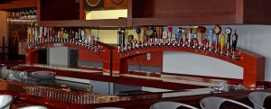 Lulus Allston, MA - Dual Arch Custom Draft Beer Tower Front